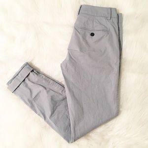 Vince light blue cuffed cropped pants 0